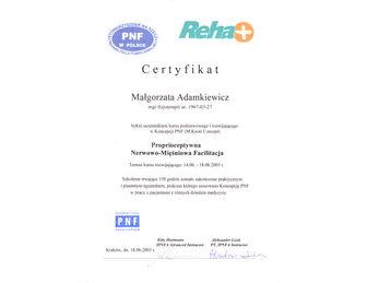 certyfikat malgorzata adamkiewicz PNF CAŁY 2003