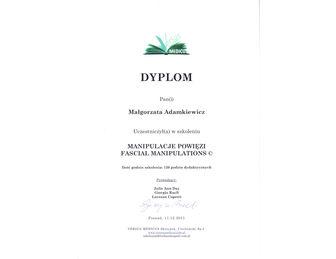 certyfikat Malgorzata Adamkiewicz